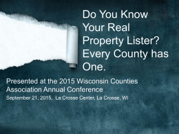 Do You Know Your Real Estate Lister? Every County Has One