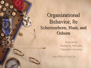 Chapter 2: The High Performance Organization