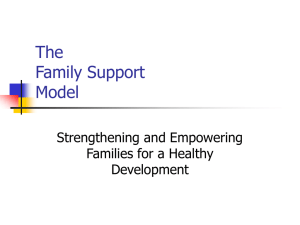 The Family Support Model