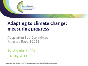 Presentation by Lord Krebs - Committee on Climate Change