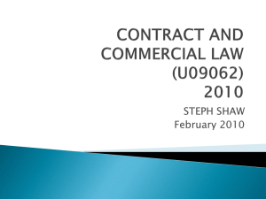 CONTRACT AND COMMERCIAL LAW (U09062)