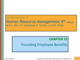 Chapter 013 Providing Employee Benefits