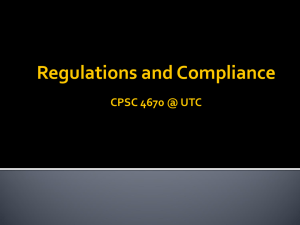 Regulations, Compliance and Privacy Protection