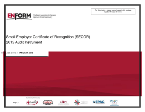 the new SECOR Audit Protocol Forms
