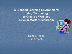A Blended Learning Environment