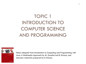 cs1026_topic1 - Computer Science
