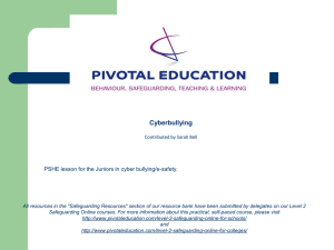 Cyber-bullying - Pivotal Education