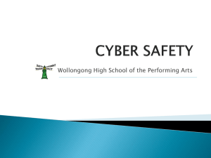 Cyber Safety Presentation - Wollongong High School of the