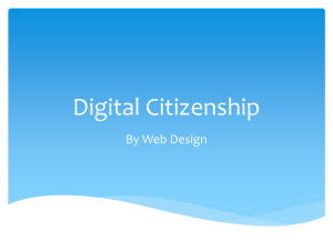 Digital Citizenship - Bruning
