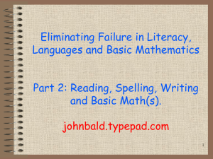 Teach First 2. - John Bald/language and literacy