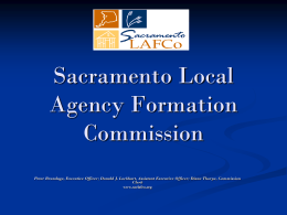 PowerPoint version - Sacramento Local Agency Formation