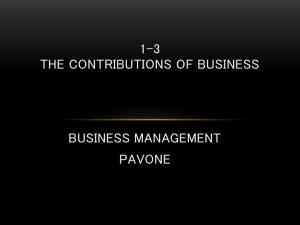 CHAPTER 1, LESSON 2 CHANGES AFFECTING BUSINESS