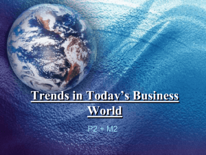 Trends in Today*s Business World