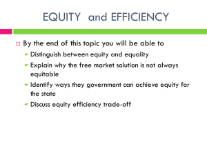 equity & efficiency
