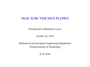 mae 5130: viscous flows - Florida Institute of Technology