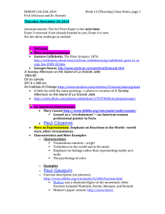 HUMAN 120, Fall, 2014 Week 13 (Thursday) Class Notes, page Prof