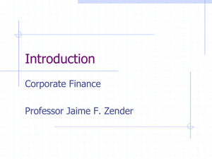 Corporate Finance: MBAC 6060