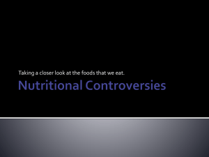Nutritional Controversies