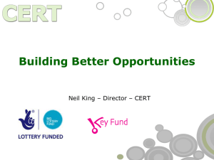 Building Better Opportunities Networking[...] - CERT Ltd