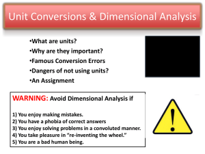 Unit Conversions & Dimensional Analysis