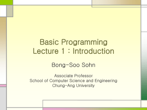 C Programming Lecture 1 : Introduction