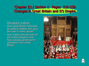 Chapter 23 / Section I: Pages 532-539 Changes in