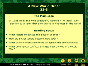 Lesson 32-3: A New World Order
