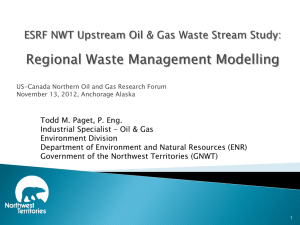ESRF NWT Upstream Oil & Gas Waste Stream Study
