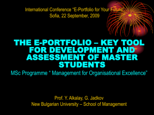 E-portfolio – a tool for training of leaders/ managers