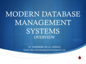 MODERN DATABASE MANAGEMENT SYSTEMS
