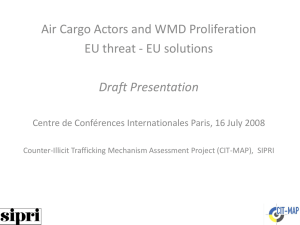 Air Cargo Carriers and WMD Proliferation