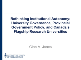 Rethinking Institutional Autonomy