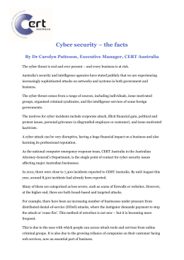 Cyber Security - The Facts