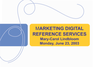 Marketing Digital Reference Services