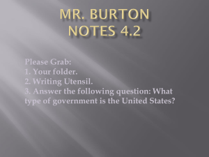 Mr. Burton Notes 4.2 Please Grab