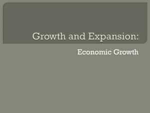Growth and Expansion – Economic Growth