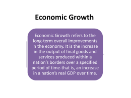 In-Class Notes - Economic Growth