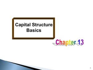 Chapter 13: Capital Structure Basics