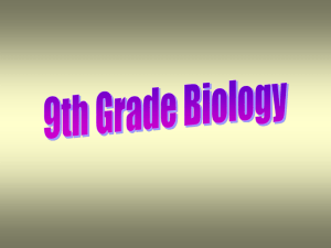 Biology Grading and Curriculum Guidelines