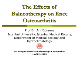 The Effect of Balneotherapy on Knee Osteoarthritis