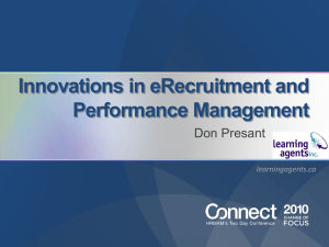 Innovations in eRecruitment and Performance Management