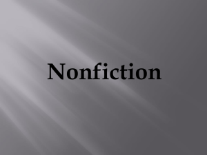 Elements of Nonfiction continued…
