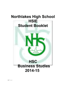 BS HSC Handbook 2015 - Northlakes High School