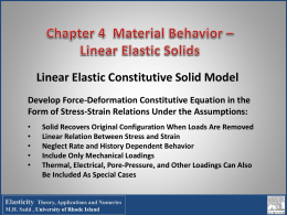 MCE 571 Theory of Elasticity