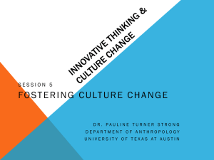 Innovative thinking & culture change