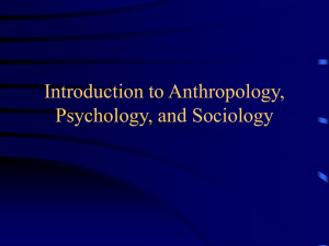 Intro to Psych, Soc, Anthro PPT