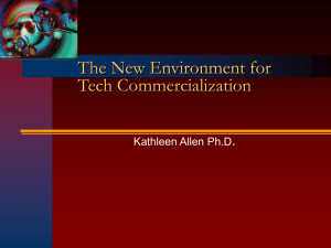 The Effect of the New Economy on Tech Commercialization