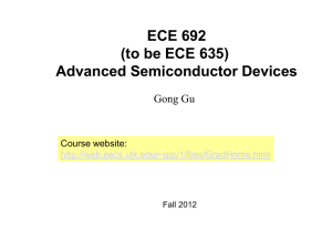 ECE692 Slides 1: Introduction (Updated 08/24/2012)