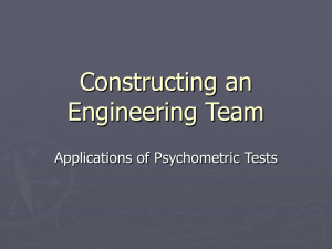 Constructing an Engineering Team