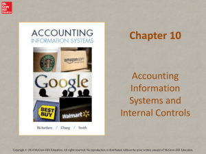 Accounting Information Systems and Internal Controls